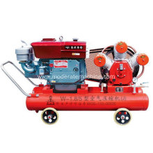 Portable W1.8/5 diesel air compressor for mining